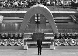 shinzo Abe 70 anniversario gray