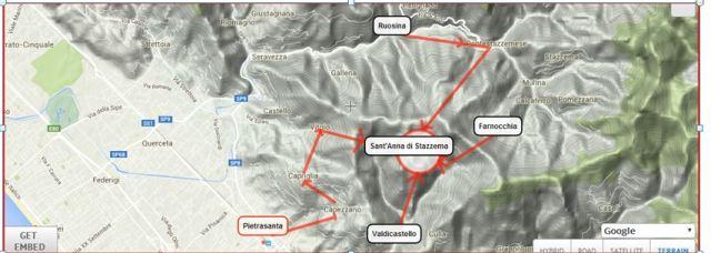 La conca di Sant'Anna e l'accerchiamento