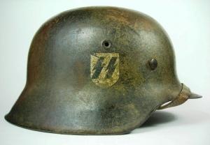 German Waffen SS M42 Camo EF64 Combat Helmet