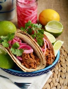 Cochinita Pibil e tacos
