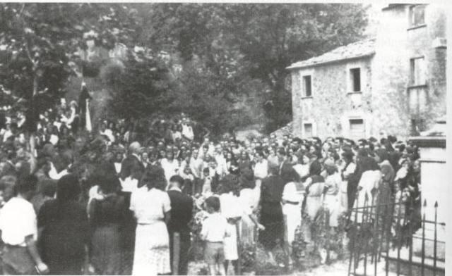 Sant'Anna di Stazzema, primo anniversario della strage